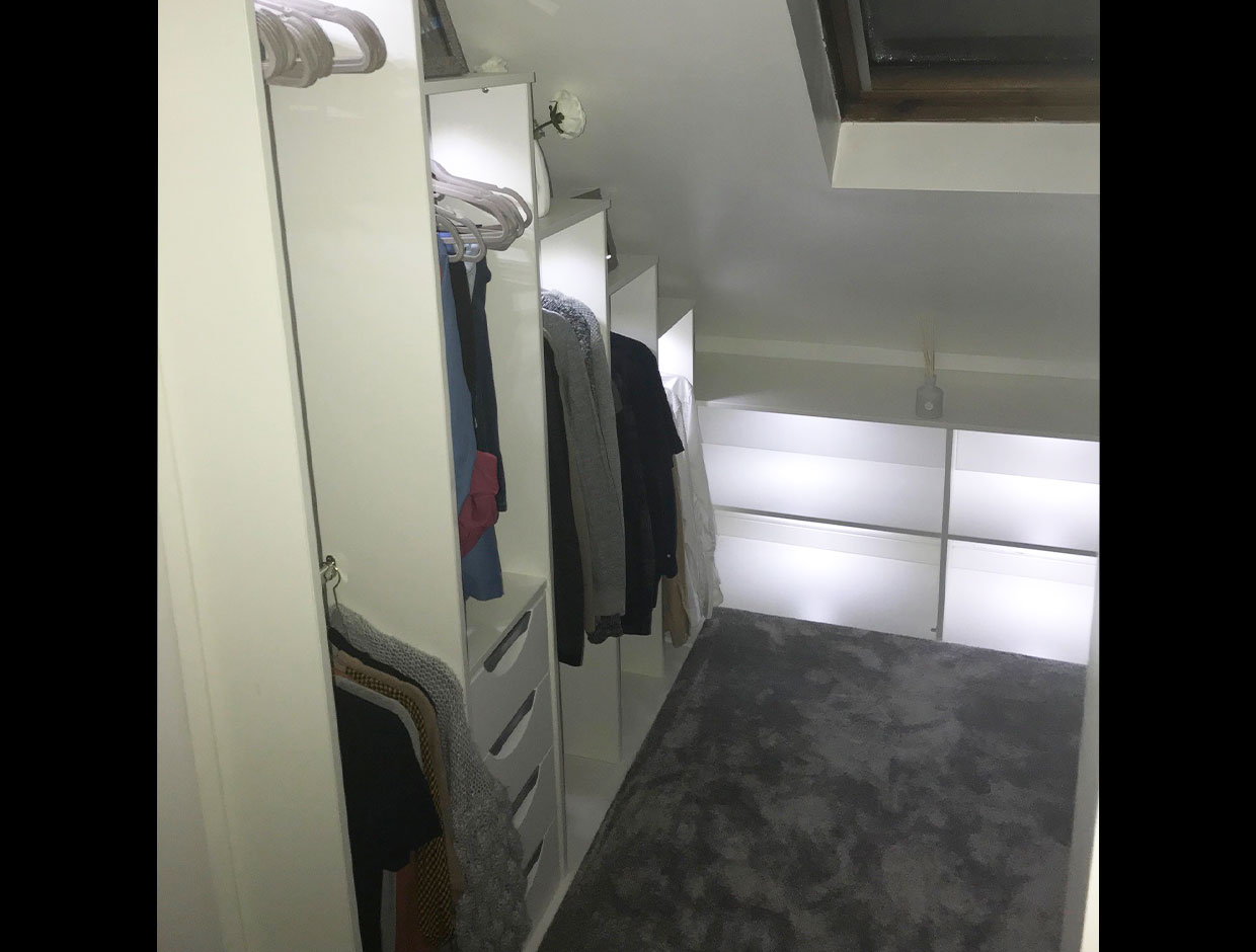 Small walk-in wardrobe transformation