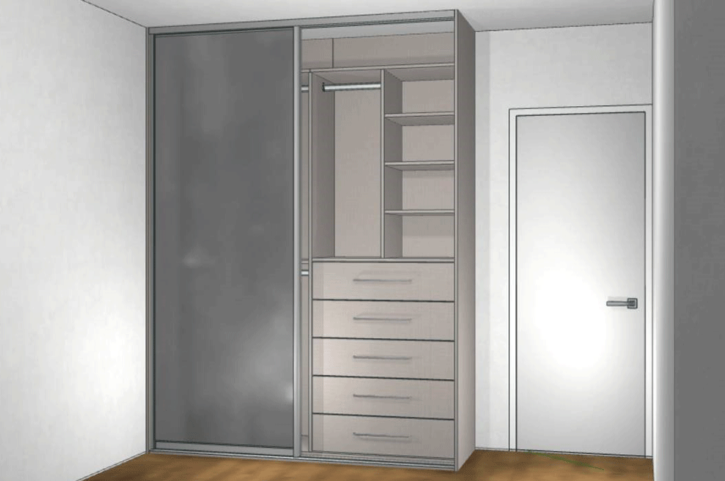 teenage bedroom CAD design