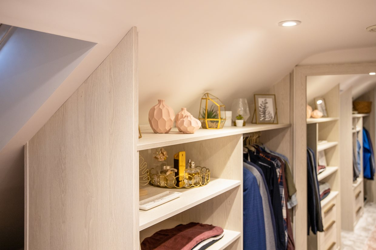 Walk-In Wardrobe, Eaves, sloped ceiling