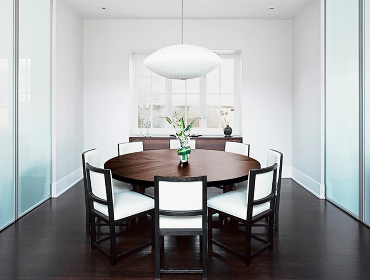 Frosted Glass Dining Room