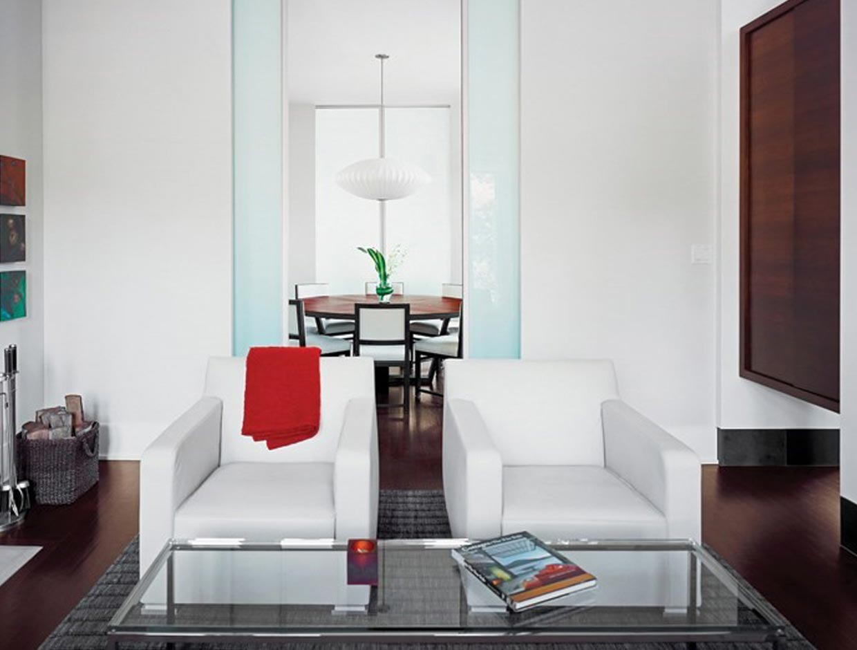 Frosted Glass Living Room