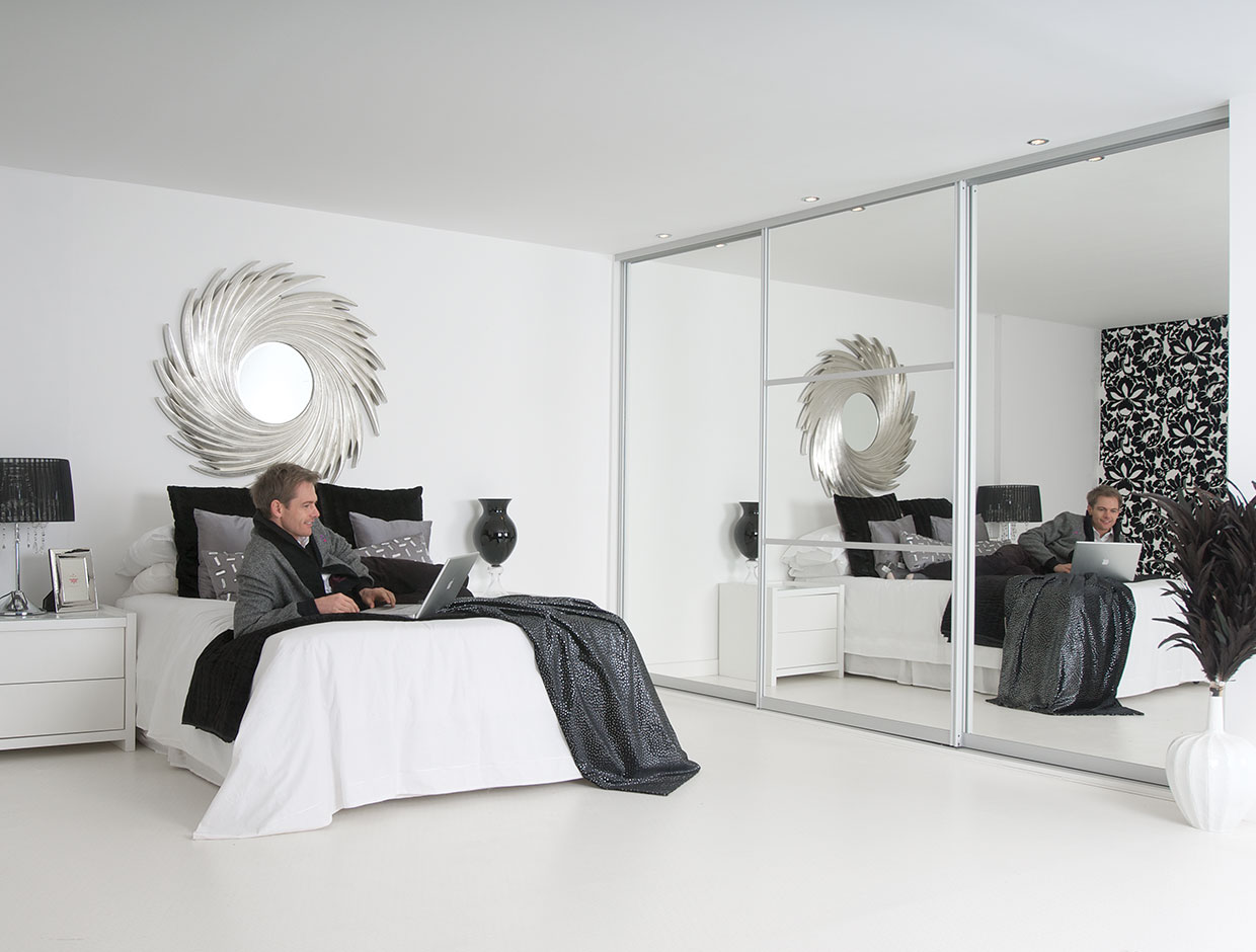 Silver Mirror, Fitted Bedroom Wardrobe