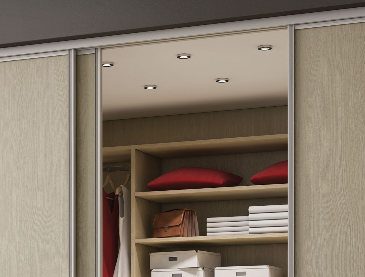 Light Ash Wood, Fitted Bedroom Wardrobe Interior