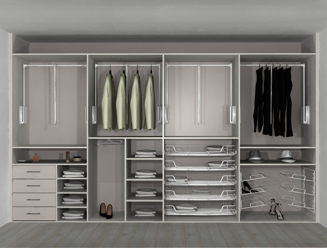 Sliderobes Accessible Wardrobes Pull Down Rails Front
