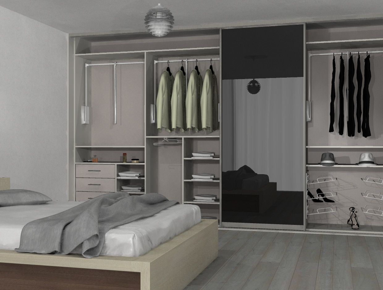 Sliderobes Accessible Wardrobes Pull Down Rails Front View