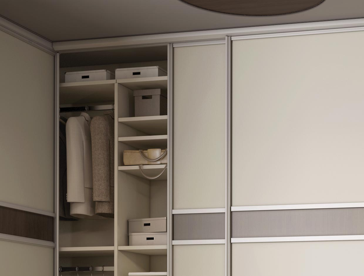 A Better Night's Sleep Fitted Corner Wardrobe Interior