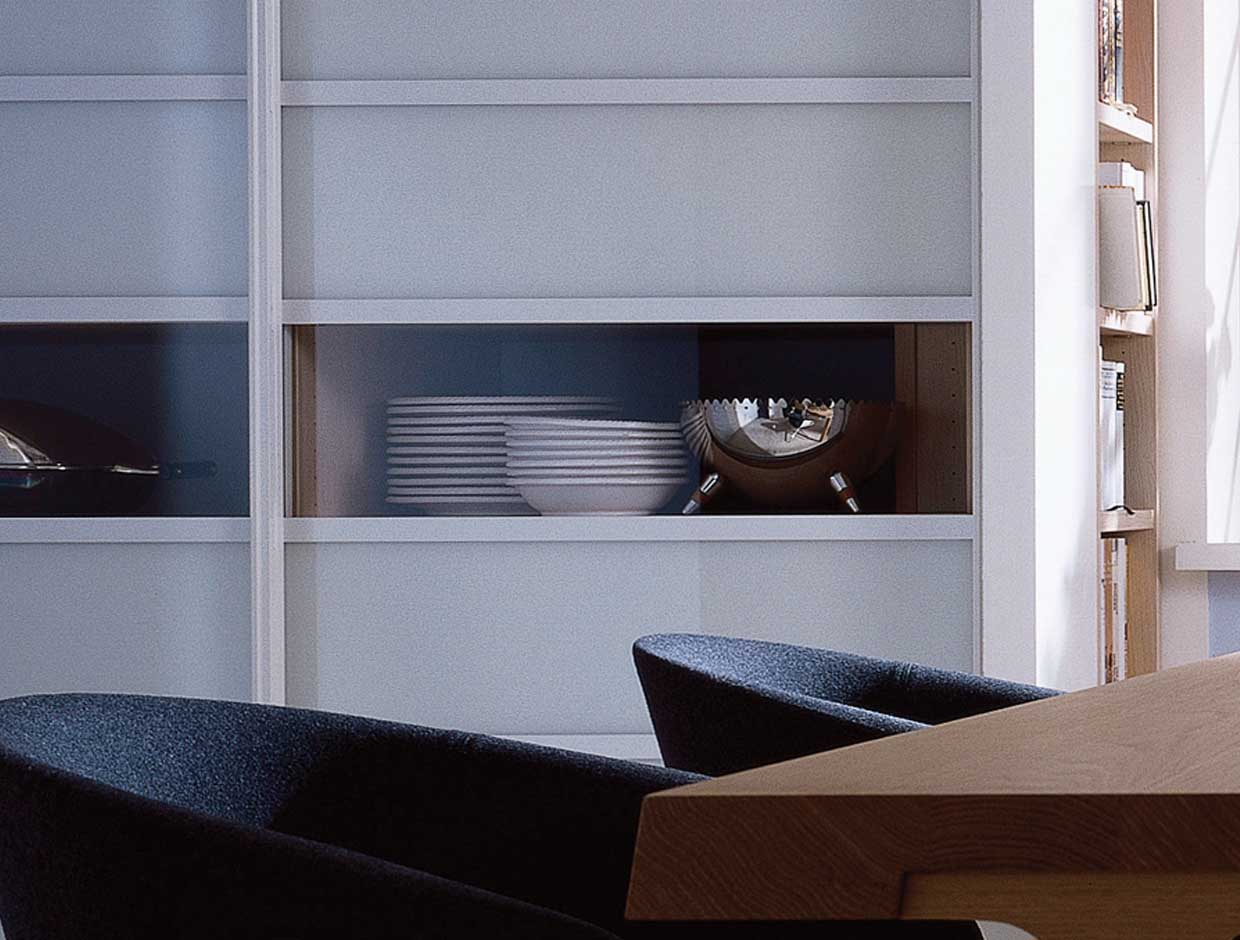 Living Spaces, Dining Room Storage Shelves