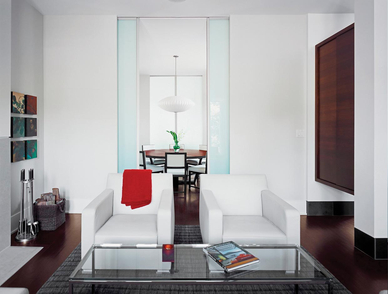 Frosted Glass Doors, Living Spaces
