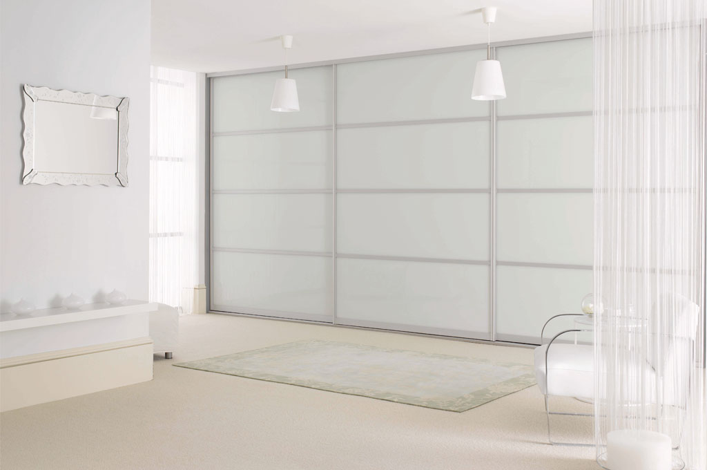 Sliderobes White Glass Sliding Door