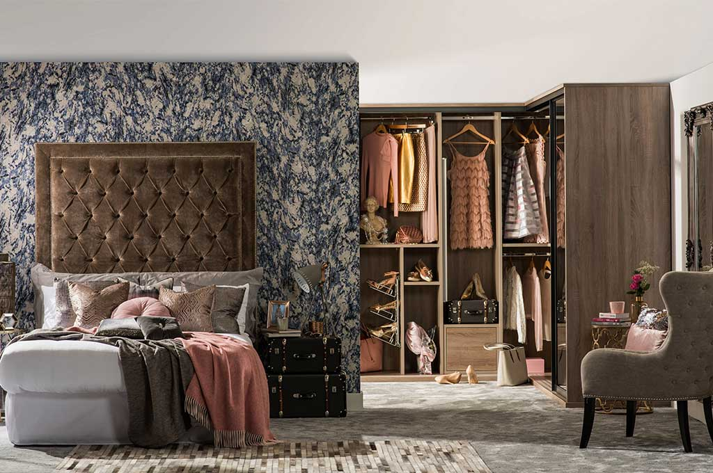 Sliderobes bedroom walk-in wardrobe