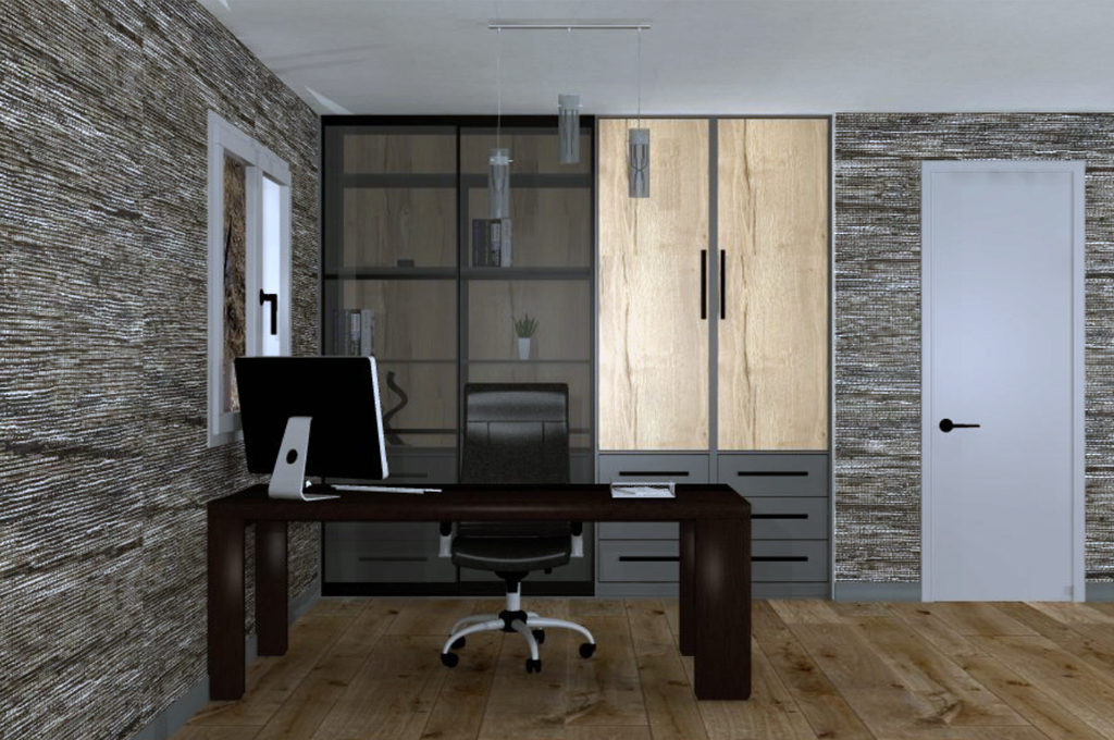 Sliderobes Home Office Dark Design