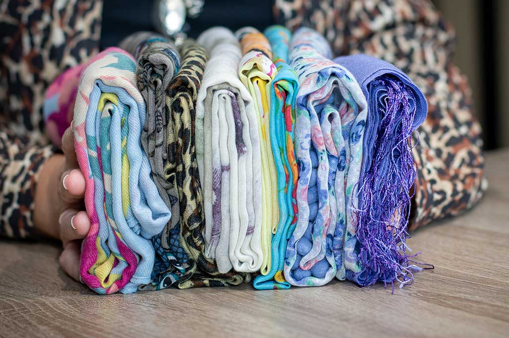 How to KonMari fold scarves