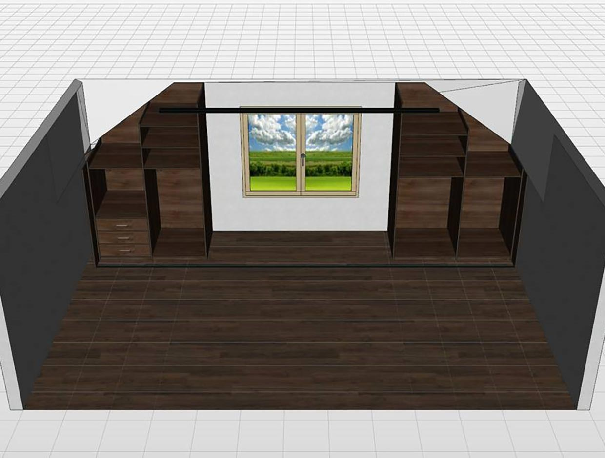 Double Angled Master Bedroom Wardrobe